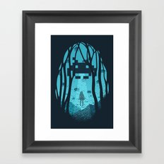 8 Bit Invasion Framed Art Print