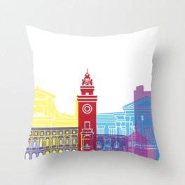 Bergamo skyline pop Throw Pillow