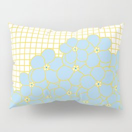 Forget Me Knot Gold Grid Pillow Sham