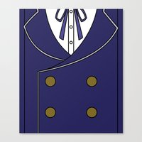 persona 4 Canvas Prints featuring Persona 4 Naoto Shirogane Jacket by Bunny Frost