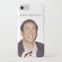 nicolas cage iPhone & iPod Cases featuring John Travolta // Nicolas Cage by Jared Cady