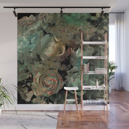 Roses in abstract shapes Wall Mural