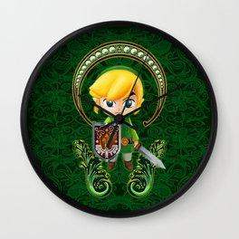 Cute Link Egg Head Wall Clock