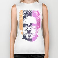 tim burton Biker Tanks featuring TIM BURTON IN COLORS by BURRO