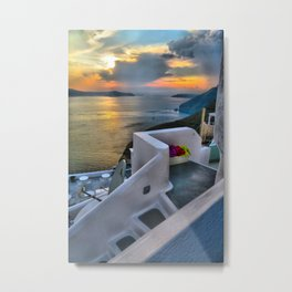 Santorini 4 Metal Print