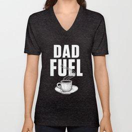Coffee Dad Fuel Unisex V-Neck
