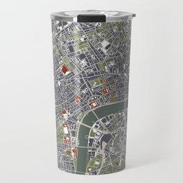 London city map engraving Travel Mug