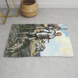 13,000px,500dpi-Hans Thoma - Knight Saint George - Digital Remastered Edition Rug