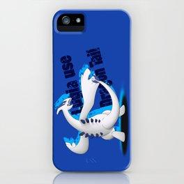 Lugia use Dragon Tail - blue vrs. iPhone Case
