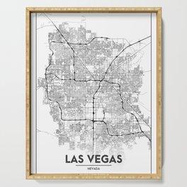 Minimal City Maps - Map Of Las Vegas, Nevada, United States Serving Tray