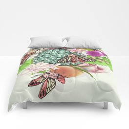 Glam Tropical - silver version Comforters