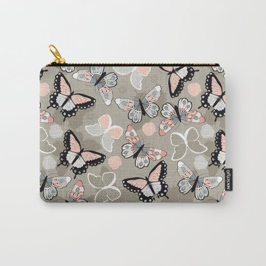 Butterfly pattern 002 Carry-All Pouch