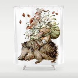 Forest Gnome by Anna Helena Szymborska Shower Curtain