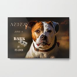 Pit Bull Rescue Poster Metal Print