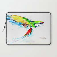military Laptop Sleeves featuring Military Macaw by ARealpe