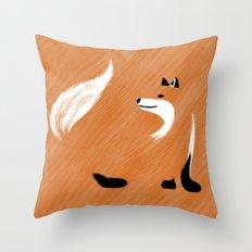 Unique Fox Design Throw Pillow