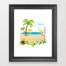 Tropical Island Framed Art Print