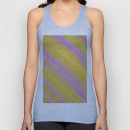 Colored Brush with Gold Foil 04 Unisex Tank Top