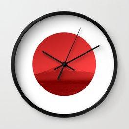 Japanese Flag - Mount Fuji, Japan Wall Clock