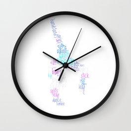 Word Cloud Gymnast Wall Clock