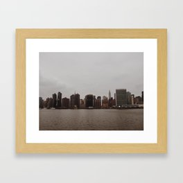 manhattan skyline - long island city Framed Art Print