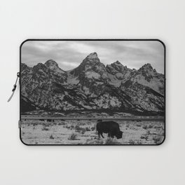 Bison and the Tetons Laptop Sleeve