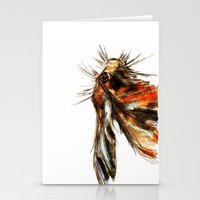 hare Stationery Cards featuring Hare by James Peart