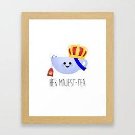 Her Majest-tea Framed Art Print