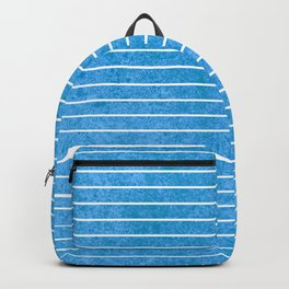 small blue straight lines Backpack