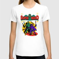 superhero T-shirts featuring Superhero Comic by harebrained