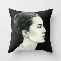 beth hoeckel Throw Pillows featuring Beth by Kalynn Burke