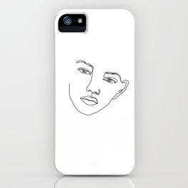 Face one line illustration - Eris iPhone Case