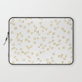 Gold Hand Painted Circles Laptop Sleeve