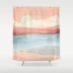 Mint Moon Beach Shower Curtain