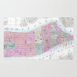 Vintage Map of Lower Manhattan (1865) Rug