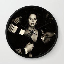 Lana DelRey Smocking Cigarette Poster Wall Clock