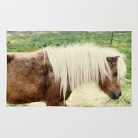 pony Area & Throw Rugs featuring Pony by angela haugland