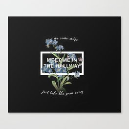 Harry Styles Meet me in the hallway graphic design artwork Canvas Print