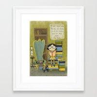 dr seuss Framed Art Prints featuring Dr. Seuss by Doreen Marts