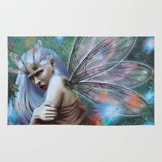 Dragonfly lady Rug