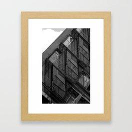 Fire Lines Framed Art Print