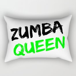 Zumba Queen (Green) Rectangular Pillow