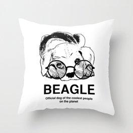 Beagle Puppy Dog Throw Pillow