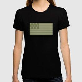 Camo Stars and Stripes – USA Flag in Military Camouflage Colors [FalseFlag 1] T-shirt