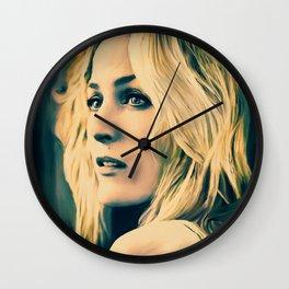 Gillian Anderson in oil olors Wall Clock