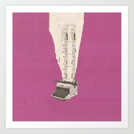 Torn Around - Typewriter Art Print