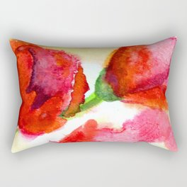 Windblown Poppies Rectangular Pillow