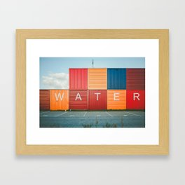 Amsterdam Noord Containers Framed Art Print
