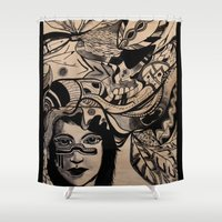 headdress Shower Curtains featuring Headdress by creative kids