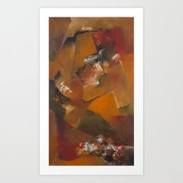 Facetas en Bronce Art Print